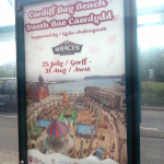 Cardiff Bay Beach image used for bus stop advertising