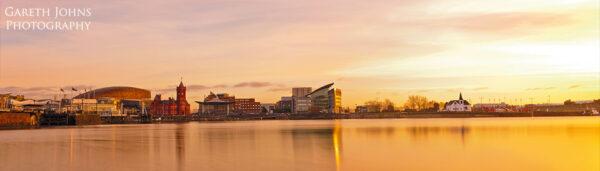 Cardiff Bay Panoramic at Sunrise