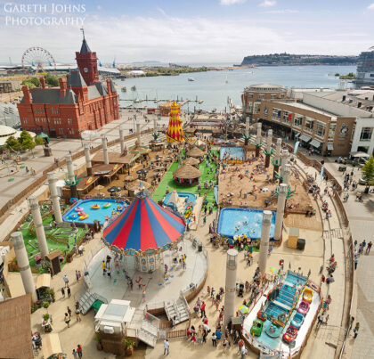 Cardiff Bay urban beach