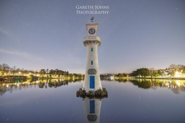 Roath Park, Cardiff. Captain Scott memorial lighthouse