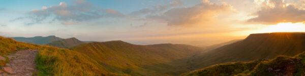 Corn Du, Pen y fan, Cribyn, Brecon beacons panorama