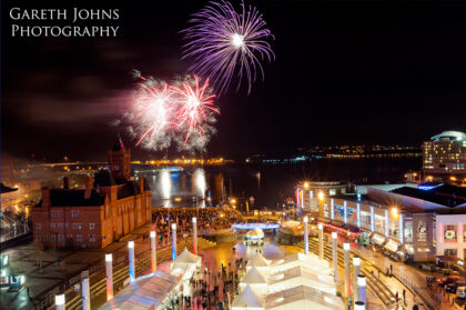 Fireworks over Cardiff Bay