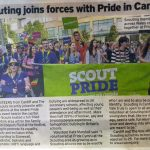 Flags Scot support at Pride Cymru Parade; Stock images for the South Wales Echo