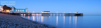 Night time panoramic of Penarth Pier