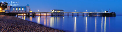 Panoramic of Penarth Pier at dusk
