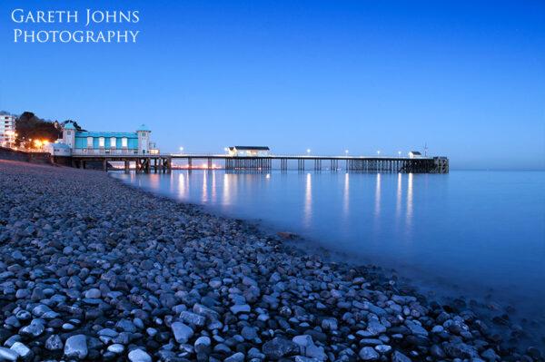 Penarth Pier at dusk