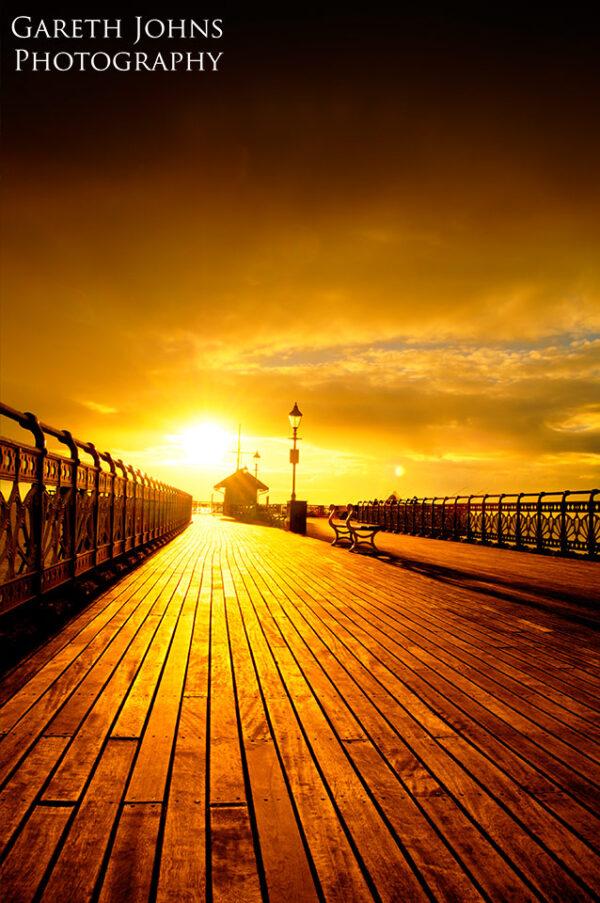 Sunrise on Penarth Pier