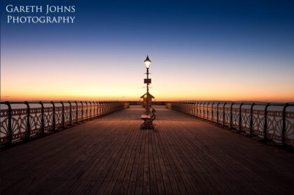Sunrise on Penarth Pier in the Vale of Glamorgan