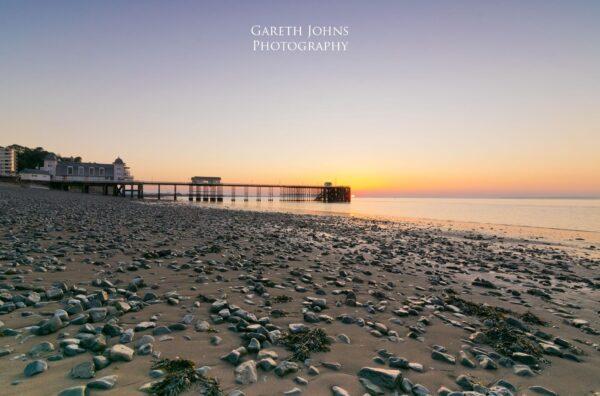 Sunrise at Penarth Pier in the Vale of Glamorgan